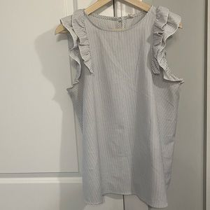 Grey stripe maternity top